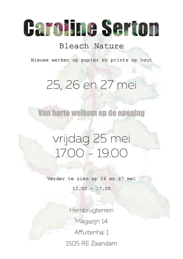 Uitnodiging Bleach Nature Caroline Serton